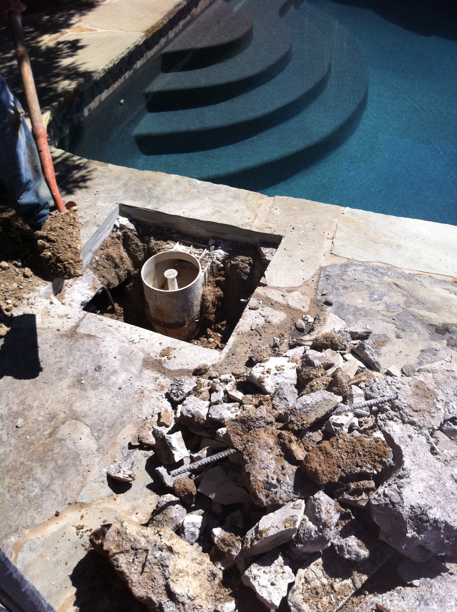 Skimmer repair pool leak detection repair by caltech pools How to fix a swimming pool leak