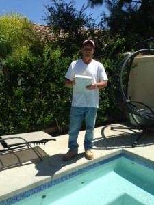 Caltech Pools performs swimming pool inspections for potential home sales.