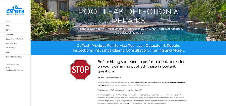 CalTech Pools - Licensed Pool Service Provider